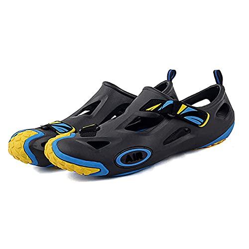 Quadruped Crab Zapatillas de Ciclismo de Ocio para Hombres y Mujeres Sin Bloqueo,Zapatillas de Bicicleta de Carretera MTB,Zapatillas Deportivas Antideslizantes para Senderismo por el Río Yellow EU45