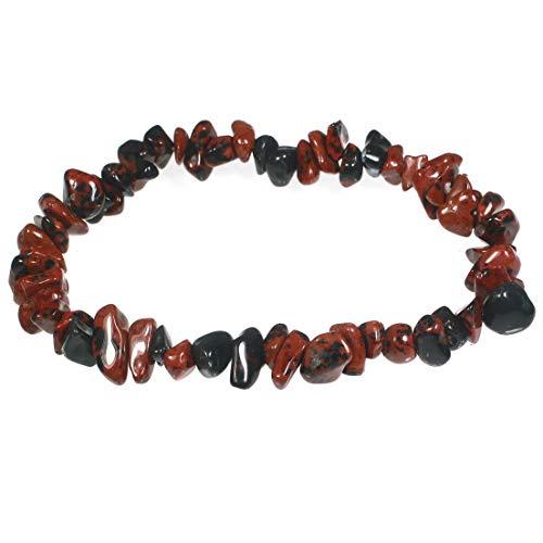 CrystalAge Armband aus Mahagoni-Obsidian, Edelsteinsplitterung.