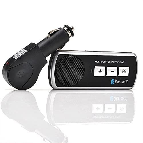 Kit manos libres Multipoint transmisor BT para coche universal móvil