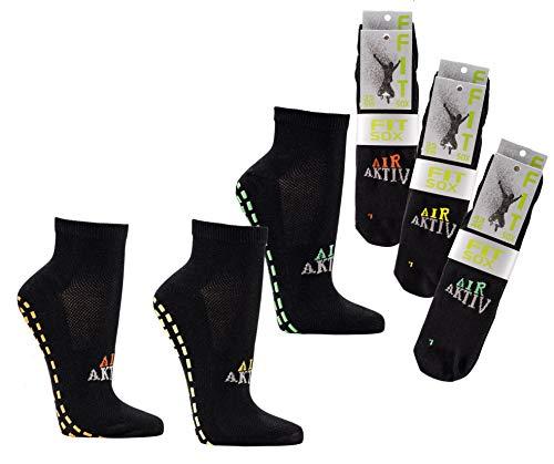 Wowerat 2-6 Paar Sportsocken Sneaker mit ABS Socken Fit Sox Jump Socks Anti Rutsch (6, 35/38)