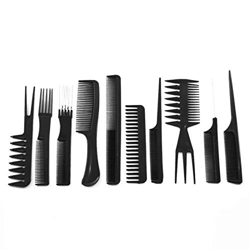 Boteacers Best New 10pcs/Set Professional Hair Brush Comb Salon Barber Hair Combs Hairbrush Hairdressing Combs Hair Care Styling Tools
