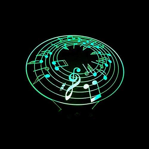 Lámpara Escritorio Preste atención al gradiente de Color de la luz LED 3D estéreo táctil Remoto USB luz Nocturna mesita de Noche decoración imaginativa Regalo de Cumplea?os 20 * 13 cm