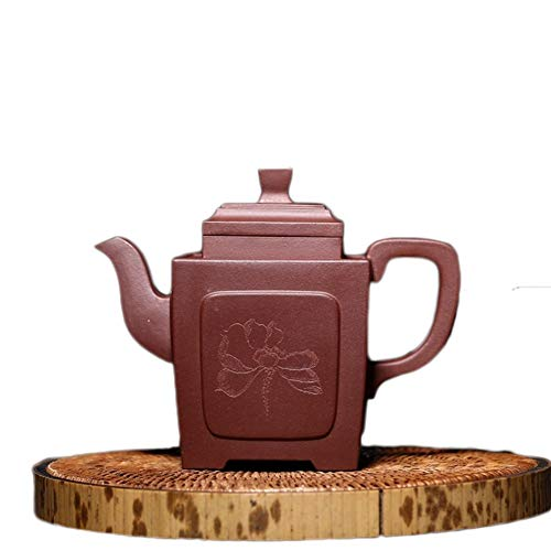 Teapot Quartet Yixing Teapot Handmade Teapot Kung Fu Tea Party Kwai Tea Maker Sand Pot Classic Tea Set (Color : Purple mud)
