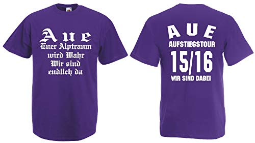 Fruit of The Loom AUE Aufstiegs-Tour T-Shirt von S-XXXL Austeiger 2015/16|lila-L