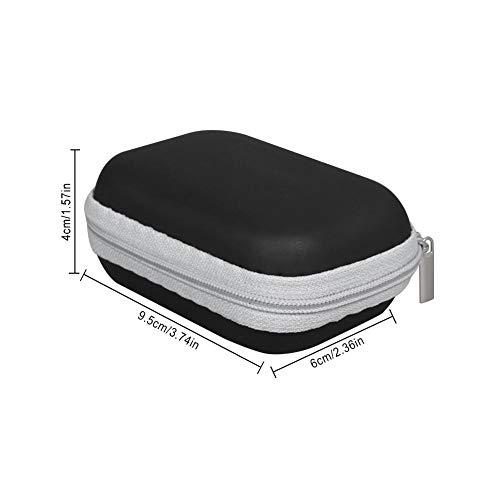 MezoJaoie Oximeter Aufbewahrungsbox für Fingerspitzen Pulsoximeter, Finger-Pulsoximeter-Koffer Tragbarer Schutz Harter EVA-Koffer, Reiseoximeter-Schutzhülle Tasche mit Reißverschluss