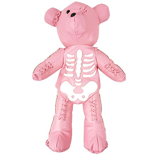 Fashion Skeleton Bear Female Backpack Punk Style School Bags Designer Backpacks for Adolescent Girls (pink)