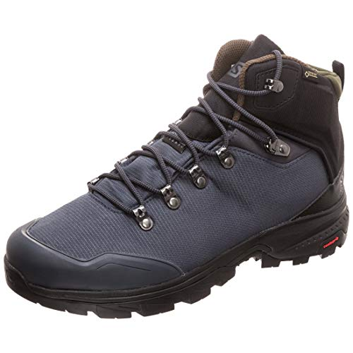 Salomon Men's Outback 500 GTX Backpacking Boots, Ebony/Black/Grape Leaf, 12