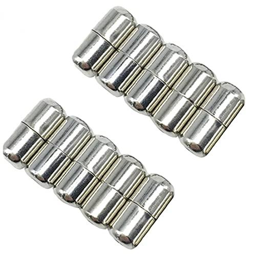 Ruluti 10 Piezas De Bloqueo De Bucle Elástico Sin Llavezas De Llave De Llave De Metal Accesorios Plateados