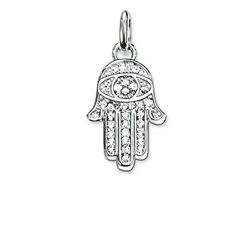 THOMAS SABO – Thomas Schloss Hand Fatima Anhänger mit Haken aus Silber mit Zirkonia ist geschwärzt kc0005-051-14