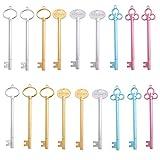 Guanici clave forma pluma forma de llaves bolígrafos de Gel Creativas Papelería pluma de gel forma de llaves bolígrafos de clave útiles escolares oficina bolígrafos escuela papelería 18 piezas 15 cm