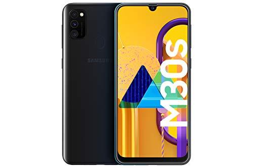 Samsung Galaxy M30s - Smartphone Dual SIM, pantalla 16.21 cm sAMOLED FHD+, camara 48MP, 4 GB RAM, 64 GB ROM, bateria 6000 mAH, Android, negro [Versión española, Exclusivo Amazon]