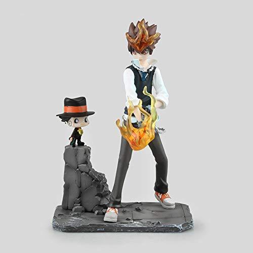 qwermz 曹翠运营不要再跟了Anime Model, Hitman Reborn! Sawada Tsunayoshi Reborn PVC Figur Spielzeug 190mm PVC Figurensammlung Modell