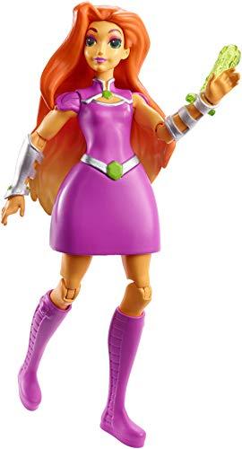 DC Super Hero Girls Figurine Articulée Starfire de 15 cm rousse en tenue de super-héroine à collectionner, jouet enfant, FGR71