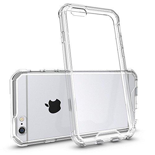 REY Funda Anti-Shock Gel Transparente para iPhone 6 / iPhone 6S, Ultra Fina 0,33mm, Esquinas Reforzadas, Silicona TPU de Alta Resistencia y Flexibilidad, Anti Golpes