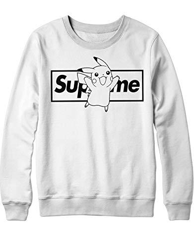 HYPSHRT Herren Sweatshirt Supeme Pika Parody C000383 Weiß XS
