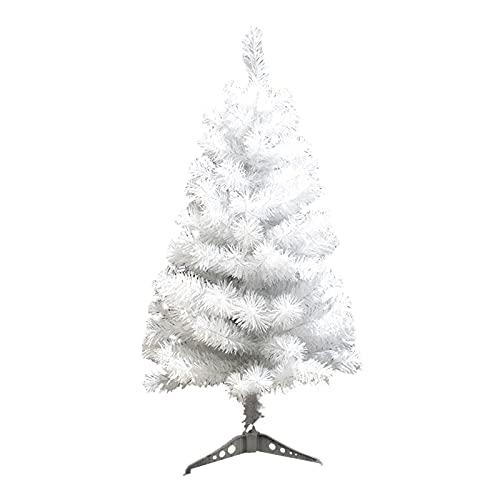 Atroy Sapin de Noël blanc artificiel de 90 cm avec base en plastique, petit sapin de Noël pour décoration de fête à la maison