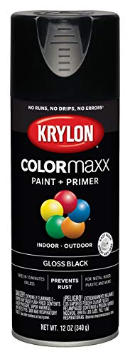 Krylon K05505007 COLORmaxx Spray Paint and Primer for Indoor/Outdoor Use, Gloss Black
