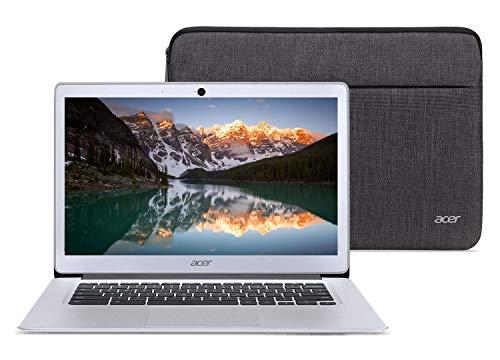 Acer Chromebook 14 Laptop Bundle Intel Quad Core E8000 up to 2GHz 4GB RAM 32GB eMMC 14inch LCD HDMI Web Cam (Renewed) (Bundle with Case)