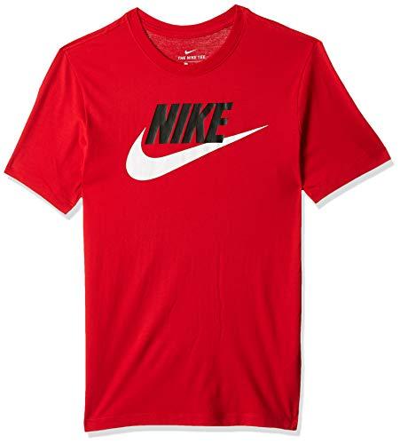 Nike Futura Icon - Maglietta Sportiva da Uomo, Uomo, T-Shirt, AR5004-657, università Rosso/Nero/Bianco, XL