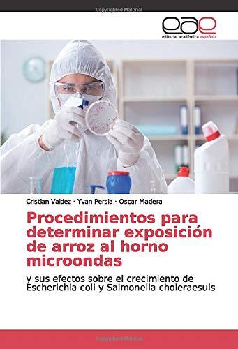 Procedimientos para determinar exposición de arroz al horno microondas: y sus efectos sobre el crecimiento de Escherichia coli y Salmonella choleraesuis
