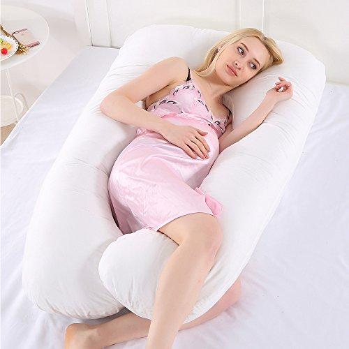 Hailin - Almohada de Embarazo para el Cuerpo, Almohada de Embarazo Multifuncional para Embarazadas Doradas (Blanco)