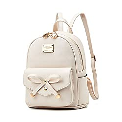 top 10 backpack teenage girl Cute bow leather backpack for girls, mini purse for women