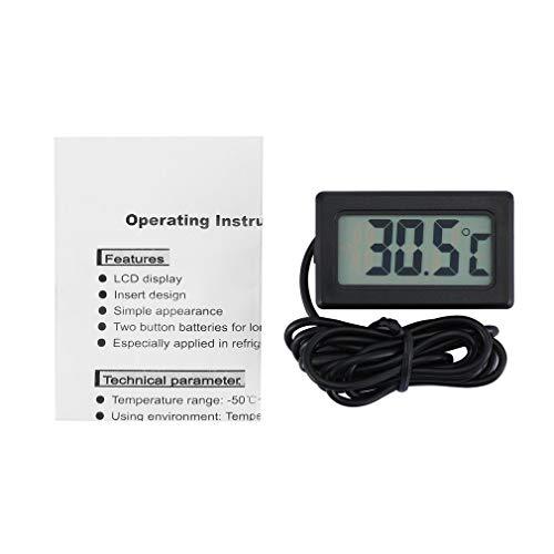 TPM-10 LCD-Digital-Thermometer Wasserdichte Innen Außen Kühlschrank Gefrierschrank Temperatur-Messinstrument -50~70 Celsius NTC-Sensor