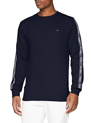 Tommy Hilfiger Track Top Ls Hwk, de pijama Hombre, Azul (Navy Blazer 416), Small