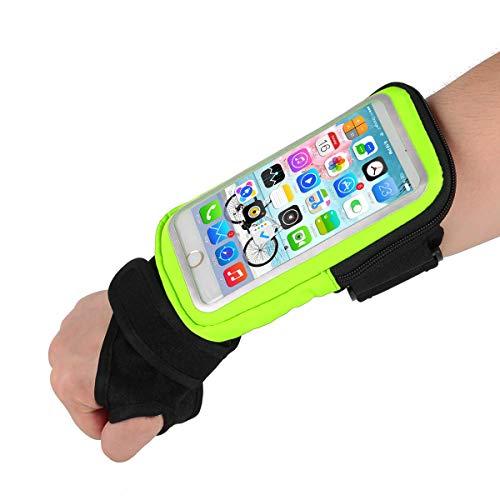 Fascia da Braccio Porta Cellulare Telefono pollice braccialetto Sweatproof Bracciale per Corsa Esercizi per iPhoneXS/XR/X/ 8 Plus /5C/5S Galaxy S6/S5 ,Huawei, ASUS, LG, Motorola fino a 6.2 Pollici