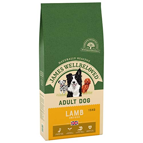 James Wellbeloved Complete Dry Adult Dog Food Lamb and Rice, 15 kg