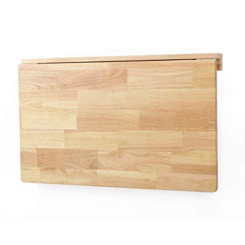 ZND Einfache Idee Massivholz Wandtisch Klappbare Küchenarbeitsplatte Computerständer Esstisch, 2 Materialien, 2 Größe (Farbe: Kiefernholz, Größe: 80X50X29Cm), Eichenholz, 80 x 50 x 29 cm