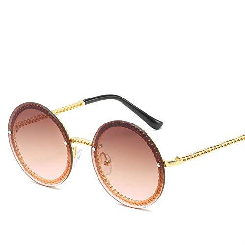 8bayfa Sonnenbrille, Marke für Damen, ohne Halterung, Sonnenbrillen aus Europa, für Damen, Einheitsgröße, Gold Tee
