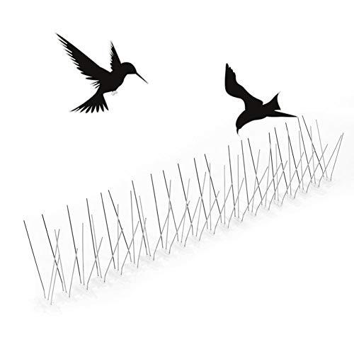 Ahagut Edelstahl Taubenabwehr | 3-reihig Gut geeignet gegen Vögel, Krähen und Spechte - Einfache Montage