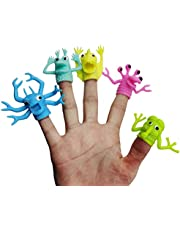 Sunine 5 szt./zestaw losowy styl TPR plastikowe urocze palec paleczki dzieci dzieci palec laleczki zabawka rodzice opowiadanie rekwizyty interaktywna zabawka prezent dla dzieci