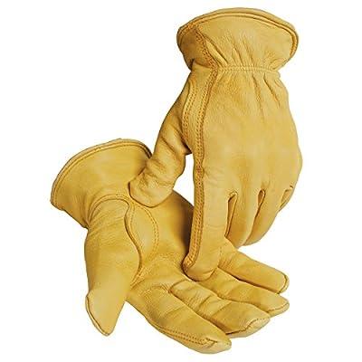 Caiman Heatrac A Grade Lined Insulated Gloves Gold Deerskin