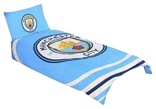 Manchester City FC Pulse Single Duvet Cover and Pillowcase Set