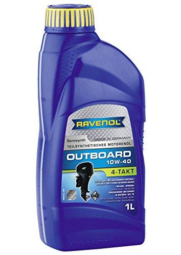 RAVENOL Outboardoel 4T SAE 10W-40 / 4-Taktöl für Außenborder NMMA FC-W (1 Liter)