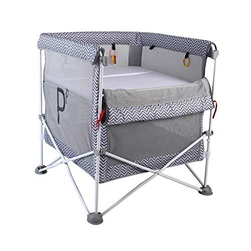 Portátil Cuna de Viaje Para Bebé Fácil de Plegar 2 en 1 Dormir y Jugar Centro 2 Capa con Trampolín de Ejercicio 32