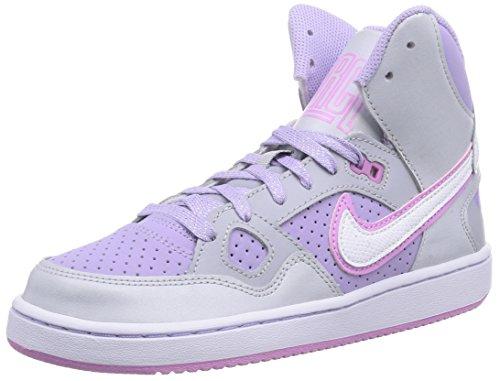Nike Son Of Force Mid (Gs) 616371-007 Mädchen Basketballschuhe Mehrfarbig (Wolf Grey/White/Hydragras/White) 38