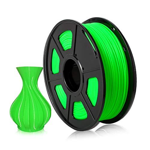 YANGDONG 1kg Hochwertiger PLA-Kabel, 1,75 Mm 3D-Druckermaterial, Mehrfarbige Optionen, Geeignet Für Alle FDM-3D-Drucker (Color : PLA Green)
