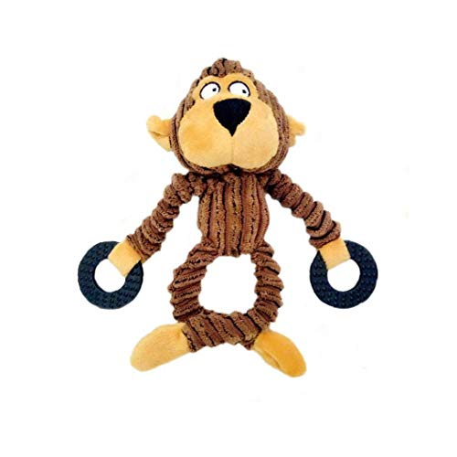 song rong Pet Peluche Vocal Scimmie Giocattolo Forma Cucciolo Interactive Squeaky Toy Denti Molari Farcito del Giocattolo Squeaker Cane Giocattolo