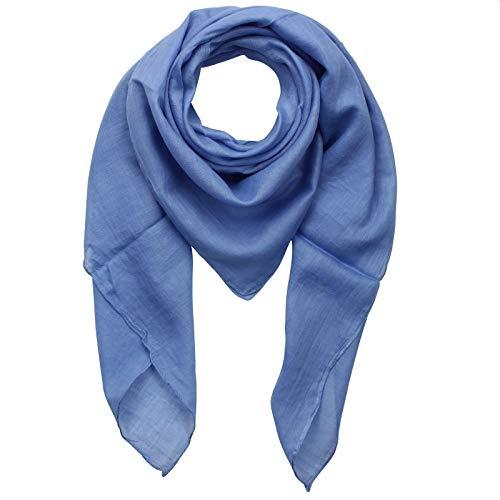Superfreak Baumwolltuch - blau - taubenblau - quadratisches Tuch