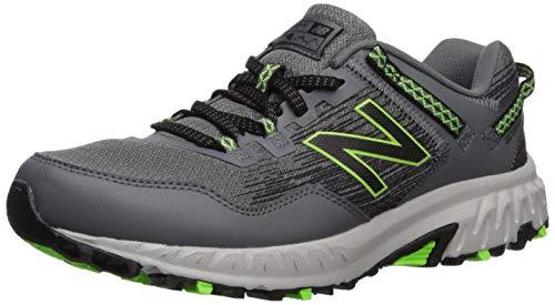 New Balance Men's 410v6 Cushioning Trail Running Shoe, Castlerock/Black/RGB Green, 17 4E US