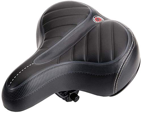 Amplio Sillín de Bicicleta Cómodo Asiento Bicicleta Gel Cruiser Extra Deportivo Cojín Suave Amortiguador de Choque para Hombres Mujeres