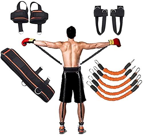 ZIOZIO Banda de resistencia deportiva, cuerda de entrenamiento de energía explosiva, equipo ideal para entrenamiento de pesas adecuado para desafíos extremos de correr deportes y fitness