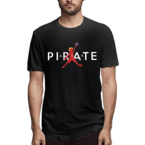 NOT Air Pirate One Piece Anime Men Black Morden Tshirt 6XL