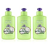Garnier Fructis Style Curl Nourish Butter Cream Leave-In Conditioner for Curly Hair, 10.2 Ounce Bottle, 3 Count