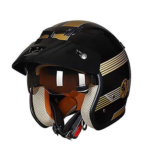 FAGavin Helm, schwarz, gold, ABS, Erwachsenen-Fahrradhelm, für Elektroauto,...