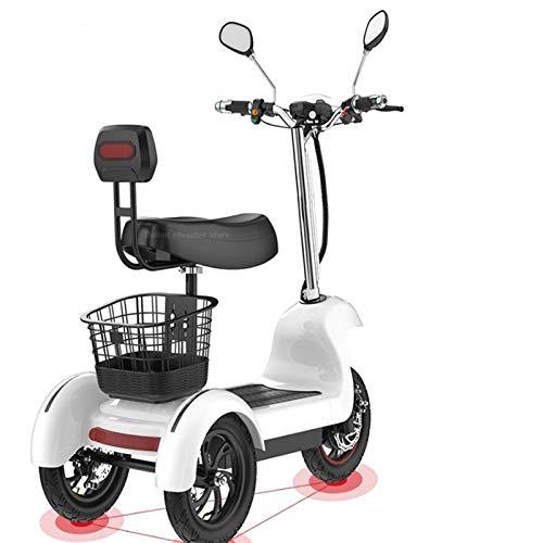 ZYW Elektro-Dreirad-Roller - 3-Rad-Elektro-Scooter Für Erwachsene/Ältere Freizeit Reisen Mobility Scooter, 500W, 12-Zoll-Rad,36v