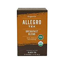 Allegro Tea, Organic Breakfast Blend Tea Bags, 20 ct